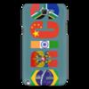 "Чехол для Samsung Galaxy Note 2 ""BRICS - БРИКС"" - россия, китай, индия, бразилия, юар"