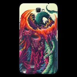 "Чехол для Samsung Galaxy Note 2 ""Hyper Beast"" - монстр, клыки, яд, ядерность"