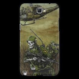 """Чехол для Samsung Galaxy Note 2 """"Война"""" - череп, скелет, война, оружие, солдаты"""