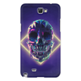"Чехол для Samsung Galaxy Note 2 ""Low poly skull"" - skull, череп, полигон"