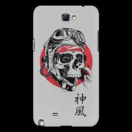 """Чехол для Samsung Galaxy Note 2 """"Камикадзе"""" - япония, иероглифы, камикадзе, божественный ветер"""