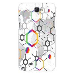 "Чехол для Samsung Galaxy Note 2 ""Формула"" - узор, текстура, формула, химия, молекулы"