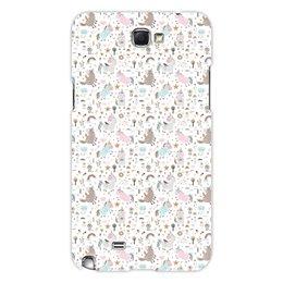 """Чехол для Samsung Galaxy Note 2 """"Единороги"""" - животные, лошадь, радуга, мульт, единорог"""