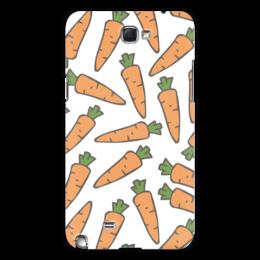 """Чехол для Samsung Galaxy Note 2 """"Морковки"""" - морковь, овощи, лето, здоровье, веган"""
