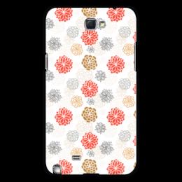 """Чехол для Samsung Galaxy Note 2 """"Цветочный"""" - арт, цветы, узор, рисунок, орнамент"""