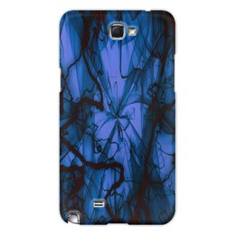 "Чехол для Samsung Galaxy Note 2 ""Краски"" - узор, космос, краски, абстракция, молния"