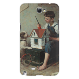 "Чехол для Samsung Galaxy Note 2 ""Painting the little House"" - картина, роквелл"