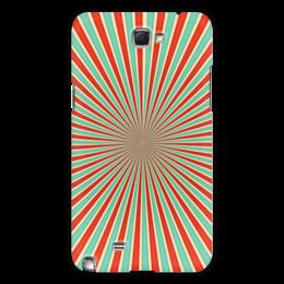 """Чехол для Samsung Galaxy Note 2 """"Полосатый"""" - арт, узор, стиль, абстракция, орамент"""