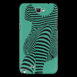 """Чехол для Samsung Galaxy Note 2 """"""""Раздвоение личности"""""""" - настроение, оригинальный, хеллоуин, стройность, раздвоение личности"""