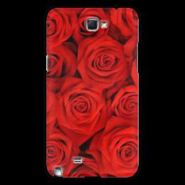 """Чехол для Samsung Galaxy Note 2 """"цветы"""" - n-a-v"""