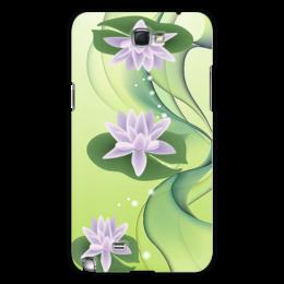 """Чехол для Samsung Galaxy Note 2 """"Цветки лотоса"""" - цветы, стиль, лотос"""