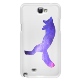 "Чехол для Samsung Galaxy Note 2 ""Space animals"" - лиса, fox, space, jump, космос"