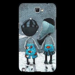 """Чехол для Samsung Galaxy Note 2 """"Любовь """" - любовь, зима, 14 февраля, валентинка, вместе"""