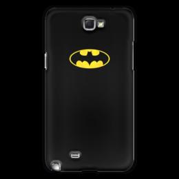 """Чехол для Samsung Galaxy Note 2 """"Бэтмен / Batman"""" - комиксы, batman, джокер, символ"""
