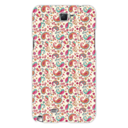 """Чехол для Samsung Galaxy Note 2 """"Пейсли (Яркий)"""" - цветок, цветы, лепесток, пейсли, узор"""