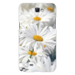 "Чехол для Samsung Galaxy Note 2 ""Ромашки"" - цветы, цветок, белый, ромашка, желтый"