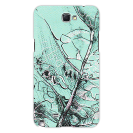 "Чехол для Samsung Galaxy Note 2 ""Весенняя осень"" - лист, рисунок, фактура"