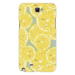 """Чехол для Samsung Galaxy Note 2 """"лимоны"""" - лето, фрукты, лимон, лимоны, цитрусовые"""