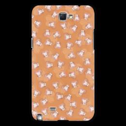 "Чехол для Samsung Galaxy Note 2 ""Котенок с клубком"" - кот, сердечко, котик, рыжий, клубок"