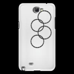 """Чехол для Samsung Galaxy Note 2 """"Нераскрывшееся кольцо (снежинка)"""" - олимпиада, 2014, sochi, olympics, сочи 2014, нераскрывшееся кольцо, эрнст, нераскрывшаяся снежинка, олимпийская эмблема"""