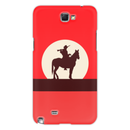 """Чехол для Samsung Galaxy Note 2 """"Ковбой"""" - ковбой, вестерн, кино, дикий запад"""