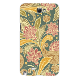 """Чехол для Samsung Galaxy Note 2 """"Цветочный"""" - цветы, рисунок, узор, орнамент, стиль"""