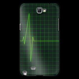 "Чехол для Samsung Galaxy Note 2 ""Линия жизни"" - медицина, минимализм, экг, частота, здравохранение"