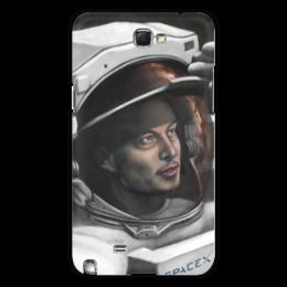 "Чехол для Samsung Galaxy Note 2 ""SpaceX"" - космос, вселенная, thespaceway, spacex, маск"