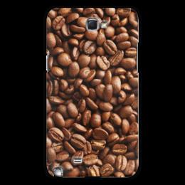"""Чехол для Samsung Galaxy Note 2 """"Кофейные зерна"""" - кофе"""