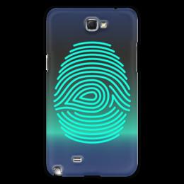 "Чехол для Samsung Galaxy Note 2 ""Отпечаток пальца"" - рука, рисунок, палец, стильный, отпечаток"