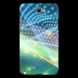 """Чехол для Samsung Galaxy Note 2 """"Абстракция"""" - абстракция, свет, линии, лучи, точки"""