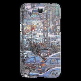 """Чехол для Samsung Galaxy Note 2 """"Охотный ряд"""" - арт, москва, город, пейзаж, живопись"""
