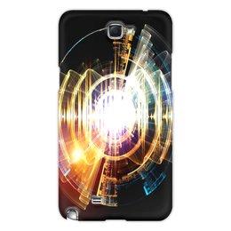 """Чехол для Samsung Galaxy Note 2 """"Абстракция"""" - узор, огонь, круг, абстракция, молния"""
