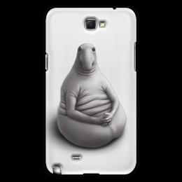 """Чехол для Samsung Galaxy Note 2 """"Ждун """"Я тут что-то нажала"""""""" - модно, мэм, samsung, ждун"""