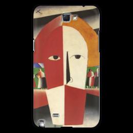 """Чехол для Samsung Galaxy Note 2 """"Голова крестьянина (Казимир Малевич)"""" - картина, живопись, малевич"""