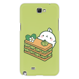 "Чехол для Samsung Galaxy Note 2 ""Зайка"" - цветок, заяц, десерт, мята, сладость"
