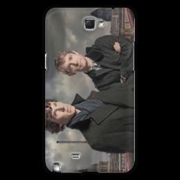 "Чехол для Samsung Galaxy Note 2 ""Шерлок и Джон"" - лондон, англия, сериал, холмс, ватсон"
