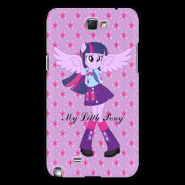 """Чехол для Samsung Galaxy Note 2 """"Искорка (Девочки Эквестрии)"""" - мультфильм, мой маленький пони, искорка, equestria girls, девочки эквестрии"""