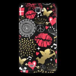 "Чехол для Samsung Galaxy Note 2 ""Валентинка"" - сердце, любовь, губы, валентинка"