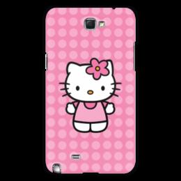 "Чехол для Samsung Galaxy Note 2 ""Kitty в горошек"" - мультик, hello kitty, мультфильм, для детей, привет китти"