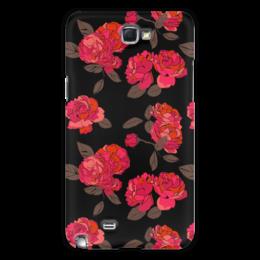 "Чехол для Samsung Galaxy Note 2 ""Ночной розарий"" - цветок, роза, девушке, подарок"