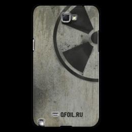 """Чехол для Samsung Galaxy Note 2 """"Логотип-трафарет"""" - сталкер, тёмная душа"""
