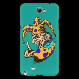 "Чехол для Samsung Galaxy Note 2 ""Джокер предупреждает"" - joker, палец, джокер, желтый, шут"