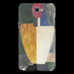 """Чехол для Samsung Galaxy Note 2 """"Торс (Фигура с розовым лицом) (Малевич)"""" - картина, живопись, малевич"""