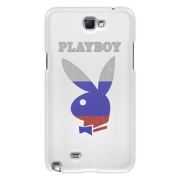 "Чехол для Samsung Galaxy Note 2 ""Playboy Россия"" - плейбой, плэйбой, россия, зайчик, playboy"