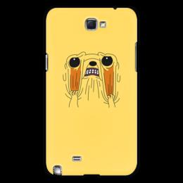 "Чехол для Samsung Galaxy Note 2 "" Джейк Пёс. Время приключений"" - adventure time, время приключений, finn and jake, финн и джейк, джейк пёс"