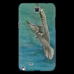 """Чехол для Samsung Galaxy Note 2 """"Чайка"""" - чайка, море, свобода, летать"""