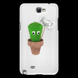 "Чехол для Samsung Galaxy Note 2 ""Hugs?"" - обнимашки, hugs, кактус, грустный, колючий"