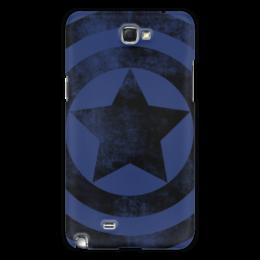 """Чехол для Samsung Galaxy Note 2 """"Captain America """" - logo, star, comics, комиксы, герой, marvel, мстители, avengers, марвел, superhero"""