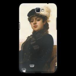 "Чехол для Samsung Galaxy Note 2 ""Неизвестная (картина Крамского)"" - картина, крамской"
